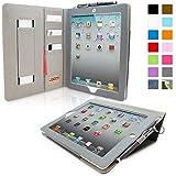 英国Snugg社製 Apple iPad 2 ケース - エグゼクティブカバー - カードポケット・生涯補償付き(グレー)