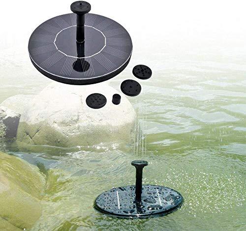 UISEBRT Springbrunnen Solar 1.4W - Solar Teichpumpe für Garten, Vogel-Bad, Teich, Fisch-Behälter Wasserspiel Dekoration (Rund)