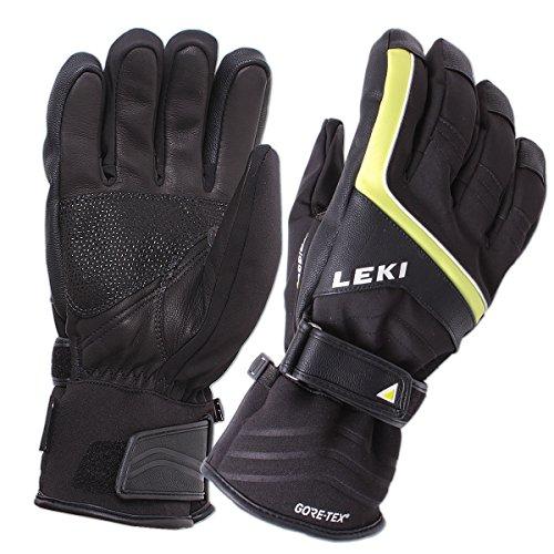 LEKI Skihandschuhe Buffin Trigger S GTX Gore-Tex (schwarz-Lime-weiß, 9)