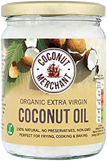 Coconut Merchant Organic Raw Extra Virgin Coconut Oil - 500ml (16.91fl oz)