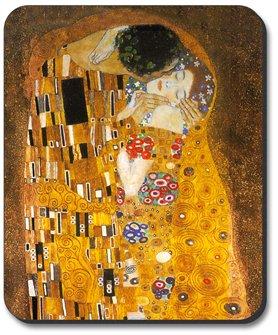 Klimt - The Kiss - Art Plates Brand Mouse Pad