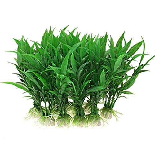 Winkey Kunstpflanze für Aquarium, schöne Dekoration,10Stück