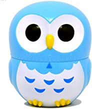 Kitchen Timer [No Battery Needed] Cute Owl Mechanical Rotating Alarm Clock Countdown Timer Reminder for Cooking Baking Stewing Daily Use Kitchen School Homework Reading, Wind Up Timer for Kids Toddler