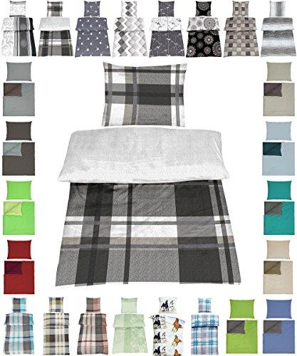 Parure de lit en coton renforcé 2 tailles avec designs élégants, 100 % coton, Theo Wende, 4 tlg. 135x200+ 80x80 cm