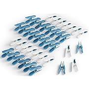 culiclean Soft Clips (40 Stück, blau-weiß/weiß-blau) Premium Wäscheklammern