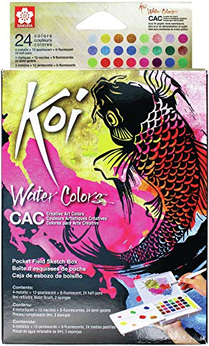 Sakura Pocket Set Koi Watercolor Kit, 24 Colors Count