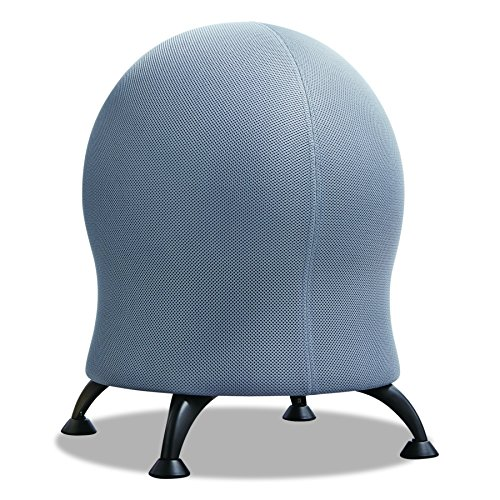 Safco Products Zenergy Ball Chair, Gray, Low Profile, Active Seating