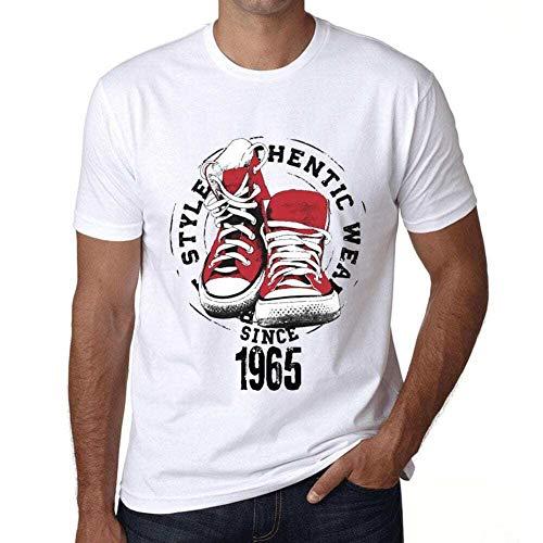 Cityone T Shirt Magliette Uomo Manica Corta Authentic Style Since 1965 Regalo di Compleanno 56 Anni Bianca