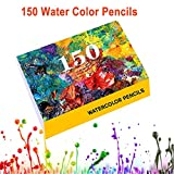 DYGZS Professional 120/160 Colors Oil Color Pencils Set Artist Painting Sketching Wood Watercolor Pencil School Art Supplies Draw Gift one size 150 Water Colors
