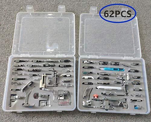 akldigital Kit de 62 Piezas Multifuncional Prensatelas Accesorios para Máquina de Coser...