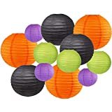 WHATS INCLUDED? Twelve (12) Just Artifacts® brand Bootiful assorted size paper lanterns. Three (3) of each color; Orange, Black, Light Green and Royal Purple in the following sizes; 12-inch, 10-inch, 8-inch, 6-inch for a total of twelve. *All paper l...