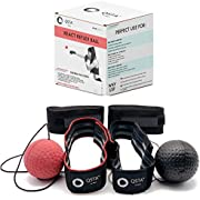 QSTA Boxing React Reflex Ball Bundle   2-in-1 Boxing Reflex Ball Bundle   2 Headbands + 2 Punching Ball + 2 handwraps   2 Training Ball on String   React Reflect Ball   Perfect for Kids & Adults