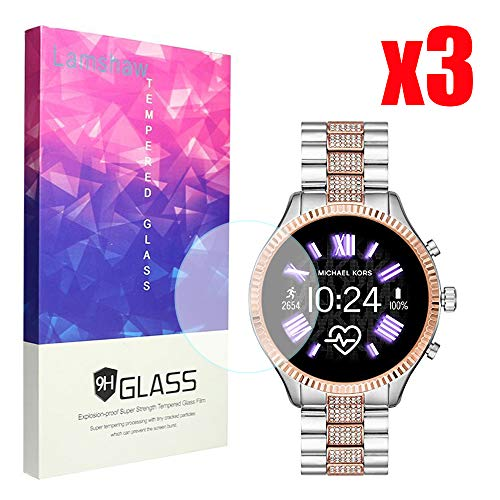 Ceston 9H Protector De Pantalla De Cristal Templado para Reloj Inteligente Michael Kors Lexington 2 (3 Pack)