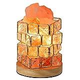 HALOVIE Lampe à sel de roche en cristal naturel avec ampoule 15 W et...