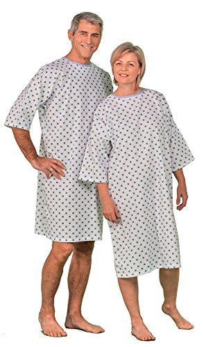 Vestido de paciente - Camiseta de hospital Promo - Precio por juego de 3 - Talla única
