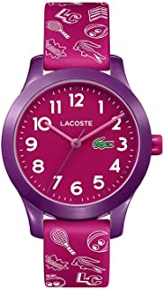 Lacoste Kids' TR90 Quartz Watch with Rubber Strap, Pink,...