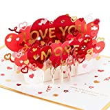 Hallmark Signature Paper Wonder Pop Up Valentines Day Card, Love Card, Anniversary Card (Feel The Love)