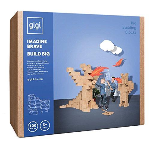 Blocchi da costruzione giganti: giocattolo creativo composto da 100 blocchi XXL , ideale per ragazze e ragazzi, che offre infinite possibilità di costruzione