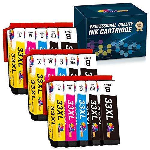 Clorisun Cartuchos de tinta compatibles para Epson 33XL 33 XL Epson Expression Premium XP-530 XP-630 XP-830 XP-635 XP-540 XP-640 XP-645 XP-7100