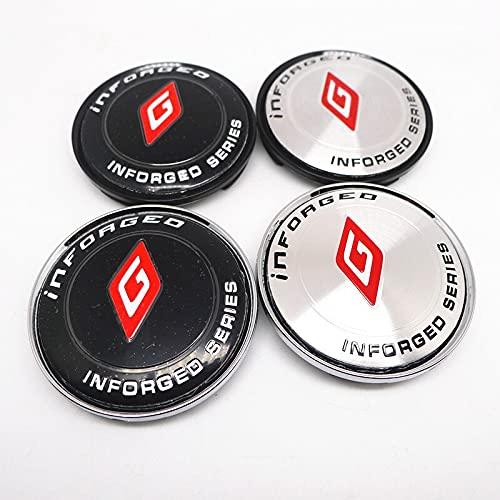 Cubierta del cubo de rueda 4pcs 63mm para Infordeo Wheel Center Wheel Logo Insignia Cap Pegatina Coche Estilo Accesorios Cubierta central (Color : A)