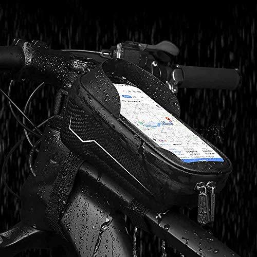 Bolsa De Manillar, Soporte para TeléFono MóVil A Prueba De Agua, Bolsa De TeléFono De La Bolsa De TeléFono De La Bicicleta, TeléFono Inteligente De Montaje De TeléFono De Moto