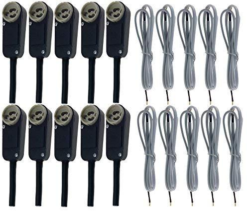 10 x GU10 Trango Boîtier de connexion 2 x 0,75 mm² 100 cm inclus câble blanc pour spot LED ou halogène encastrable