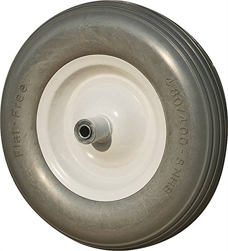 Rocky Mountain Goods Flat Free Wheelbarrow Wheel 16' - 500 lbs. Load Rating - for 6 & 8 Cubic ft....