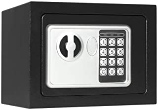 Lovndi Electronic Security Safe Box, 0.17 Cubic Feet Digital Deposit Box for Home Office Hotel Business, Lock Box for Cash...