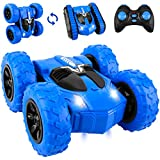 Vooteen RC Stunt Car, 4WD 2.4GHz Remote Control Car, 2 in 1 Tire Switching Double Sided Rotating Tumbling 360° Flip for 4-7,8-12 Year Old Boy Toys