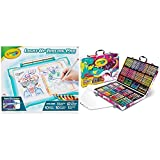 Crayola Light Up Tracing Pad Teal, Amazon Exclusive, Toys, Gift for Kids, Ages 6, 7, 8, 9, 10 (04-0830) & Inspiration Art Case Coloring Set, Gift for Kids Age 5+