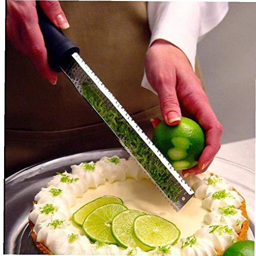 Case Cover Micro Frucht-gemüse-Werkzeuge Käse Klassische Fein Zester Reibe Kunststoff Griff Küche Zubehör Leicht Zu Zester Reibe Zitrone Käse Gingers Knoblauch 1pc
