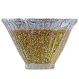 Flower shaped Glass Teacup, Charming Frozen Texture, 1.7oz
