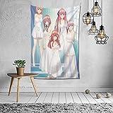 五等分の花嫁 タペストリー 毛布 壁掛け 多機能 ファブリック 掛け物 壁吊 ー壁掛けタペストリ家庭装飾的な壁のタペストリーは 部屋の壁の装飾
