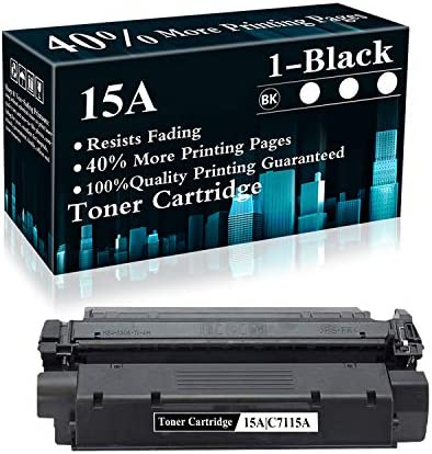 1 Pack 15A C7115A Black Compatible Toner Cartridge Replacement for HP Laserjet 1000 1150 1005W product image