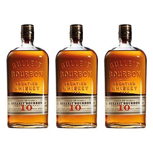Bulleit Bourbon Frontier Whiskey Aged 729937 - Botella de whisky (3 unidades, 45,6 %, 700 ml)