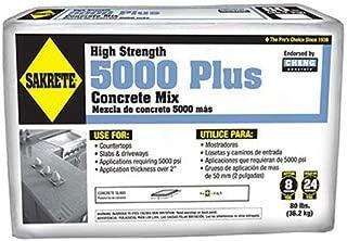 SAKRETE of North America 65200370 80 lb Sakrete 5000 Plus Concrete Mix