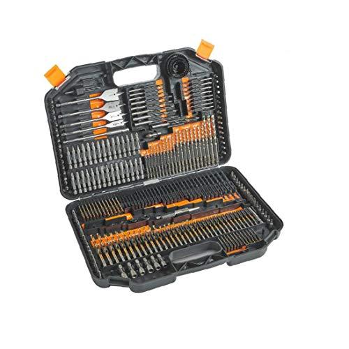GGOOD Brocas HSS con Titanio Recubierto bits y la Caja de Almacenamiento para la perforación de Metal, mampostería, Madera y plásticos, Suministros Herramienta y Accesorios