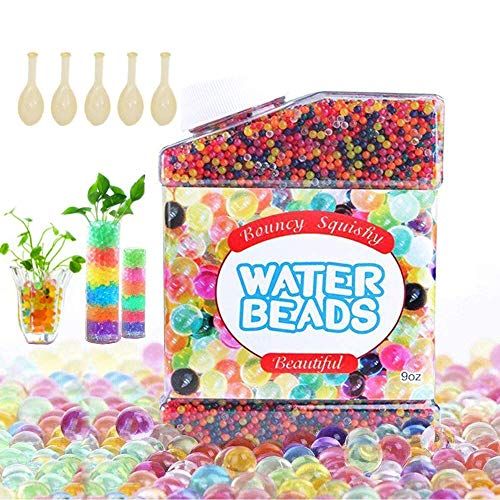 HEPAZ Perline in Gel Acqua per vasi,60000 PezziNon Tossici Water Beads Perle, Cristalli Palline Che Si Gonfiano in Acqua per riempire Il Vaso per la casa e la Decorazione di Nozze