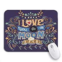NINEHASA 可愛いマウスパッド 私はあなたを月に愛していますノートブックマウスマット用のロマンチックなノンスリップゴムバッキングコンピューターマウスパッド