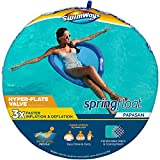 SwimWays Spring Float Papasan Pool Lounge Chair with Hyper-Flate Valve, Blue, 36'L x 35.5'W x 2.5'H