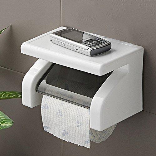 Porte-rouleau de papier toilette mural en plastique étanche