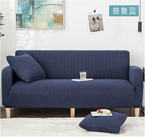 ARTEZXX Elastischer Sofa-Überwürfe 1/2/3/4 Sitzer Sofaüberzug Blau Sofabezug Sessel in Verschiedene Größe und FarbeDicker Mais gestrickt 2 Sitzer: 145-185 cm