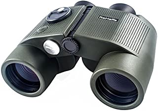Marine Binoculars for Adults,7x50 Waterproof Fogproof Military Binoculars, ReHaffe Binocular with Rangefinder and Illuminated Compass for Boating Sailing Water Sports Hunting and More