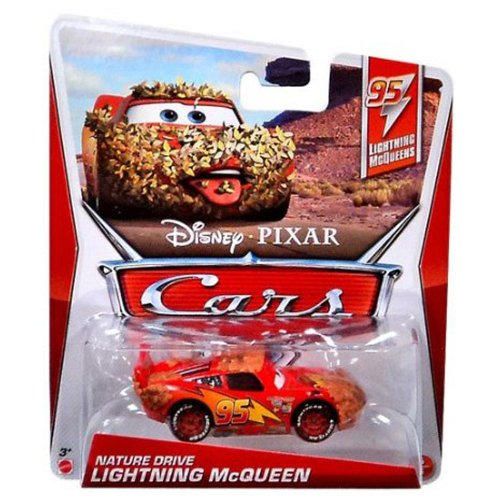 Disney Pixar Cars NATURE DRIVE LIGHTNING MCQUEEN (Lightning McQueen Series, #5 of 5) - Voiture Miniature Echelle 1:55