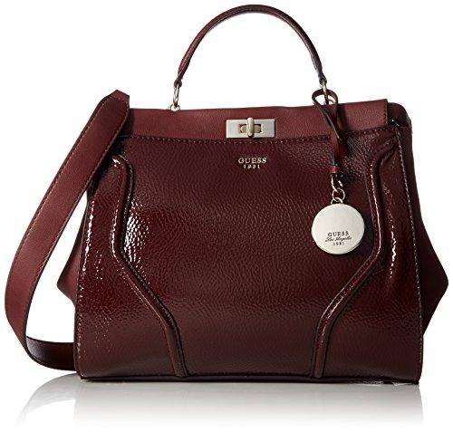 Guess Damen Georgie Satchel handtaschen, Rot (Bordeaux), One Size