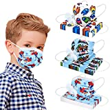 Kids BreathableFace Mask Masks, Cute Designer Children Facemask for Age 2-4 3 8-10 Years Old Boys Kid, 3 Ply Layer Funny Fabric School Comfortable Facemasks Madks, Youth Child Mascarillas Para Niños