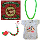 Jingle Jam Rock: Holiday Hits Go Lullaby - Holiday Lullaby, Teething & Romper Gift Set (9-12M) [Holiday Green]