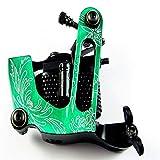 Zwen Máquina de Tatuaje de Bobina 10 bobinas de Envoltura Pistola de Tatuaje para Shader Liner Tattoo Motor Gun, Verde