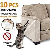 Kratzschutz für Haustiere, kratzschutz sofa, Anti-Kratzer Katzen Ausbildung Klebeband, für Hund und Katze, Krallenschutz für Möbel, Couch, selbstklebend, 10er-Pack, 30*40 cm