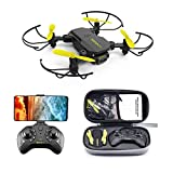 TCMMRC Peak Bird Mini FPV with 0.3MP/5.0/4KMP HD Camera, Altitude Hold Mode Foldable RC Drone Quadcopter RTF, Headless Mode, One-Key Automatic Return, Altitude Hold for Children, Adults and Beginners